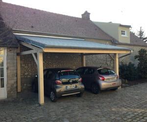 Abris en bois portes et fen tres pvc bois et alu en essonne 91 for Abri voiture moderne