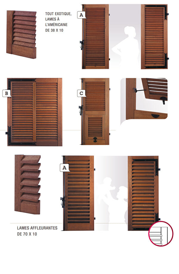 volet en bois persienn s portes et fen tres pvc bois et. Black Bedroom Furniture Sets. Home Design Ideas