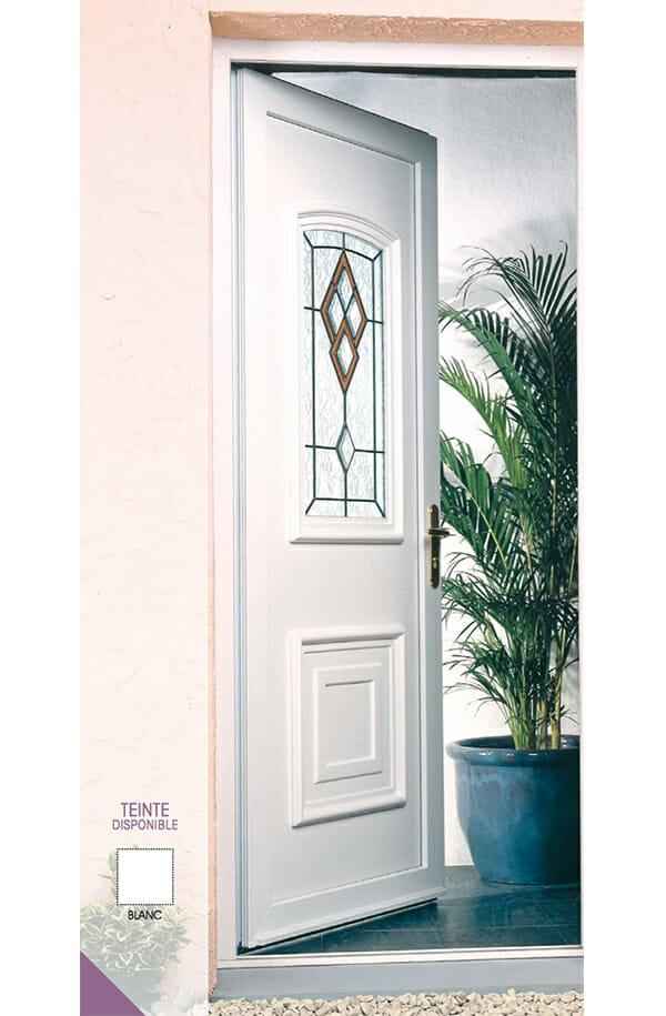 Porte pvc gamme d co portes et fen tres pvc bois et alu for Achat porte pvc