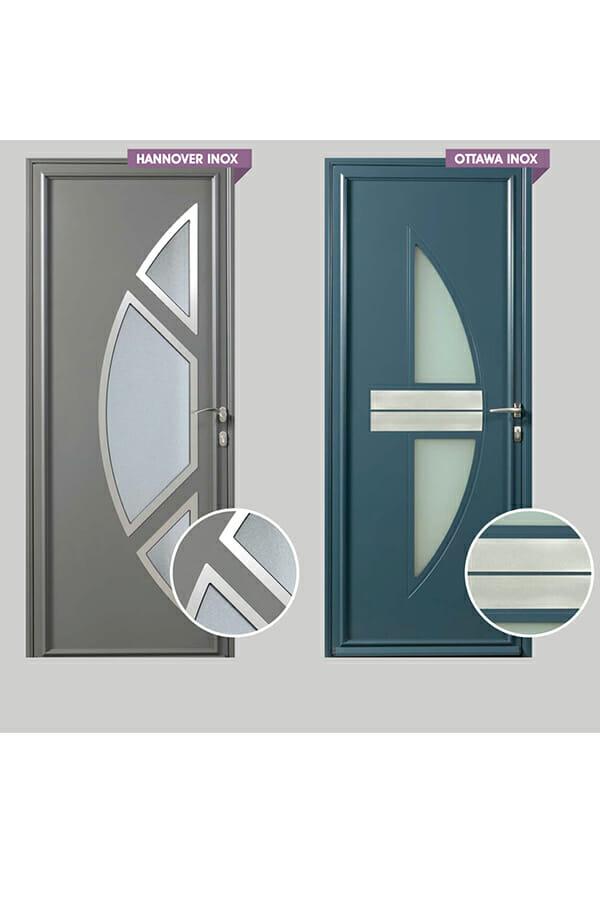 Porte aluminium gamme r sidence portes et fen tres pvc for Porte aluminium
