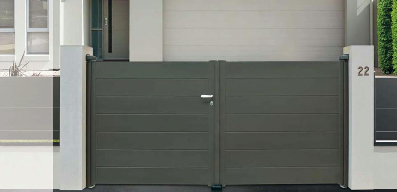 devis portail aluminum contemporain portes et fen tres pvc bois et alu en essonne 91. Black Bedroom Furniture Sets. Home Design Ideas