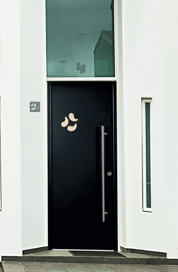 porte aluminium gamme habitat portes et fen tres pvc. Black Bedroom Furniture Sets. Home Design Ideas
