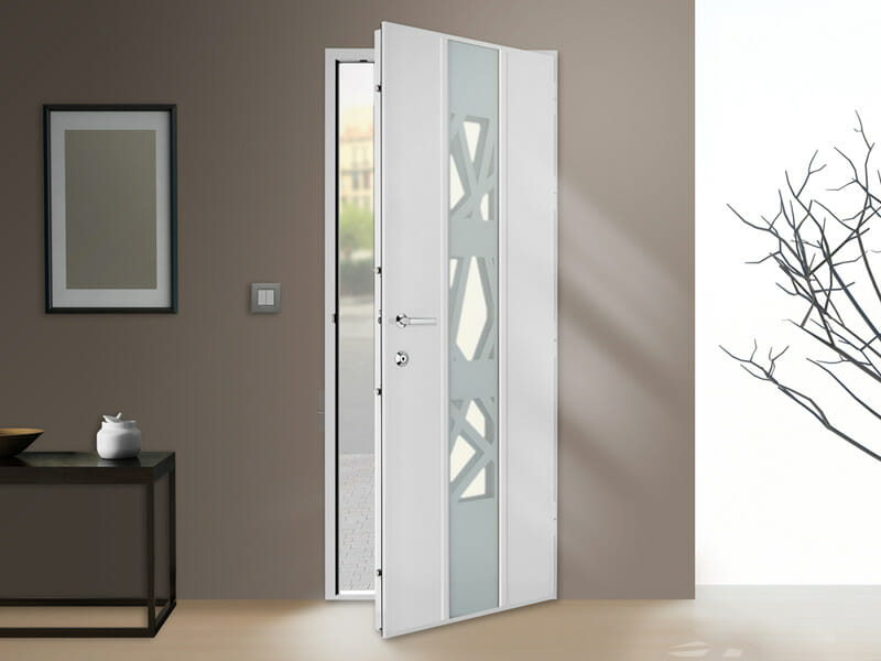 Porte blind e pour pavillon luminance portes et fen tres for Decoration porte blindee
