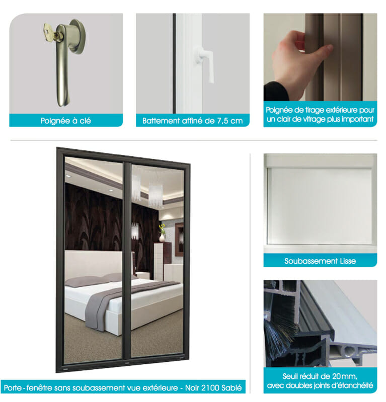 Porte fen tre aluminium portes et fen tres pvc bois et for Type de verre pour fenetre