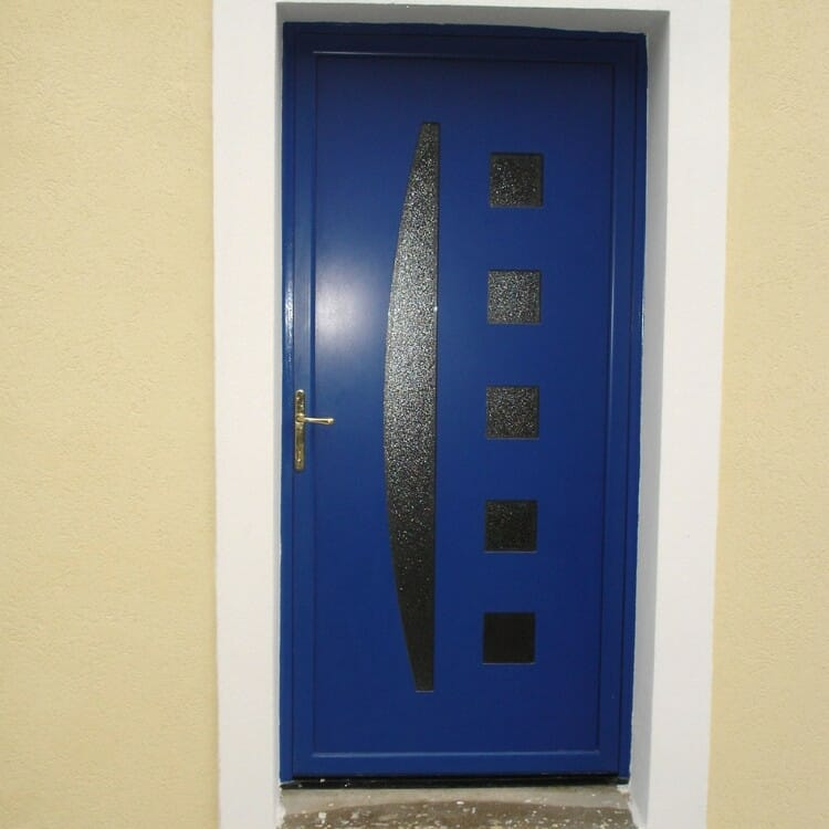 Porte-dentree-aluminium-bleue
