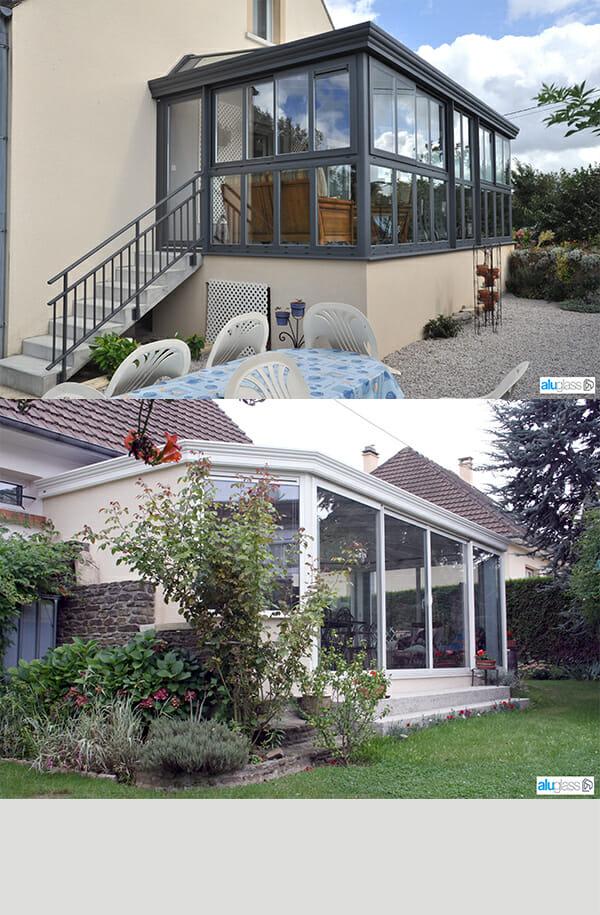Devis veranda aluminium 91 3 portes et fen tres pvc for Devis fenetre alu