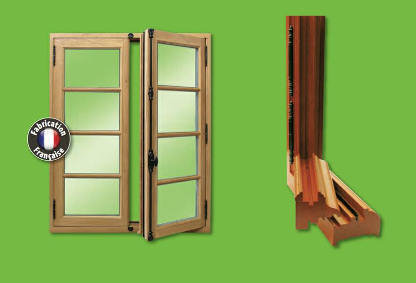 Fen tres en bois gamme patrimoine portes et fen tres pvc for Fabrication de fenetre en bois