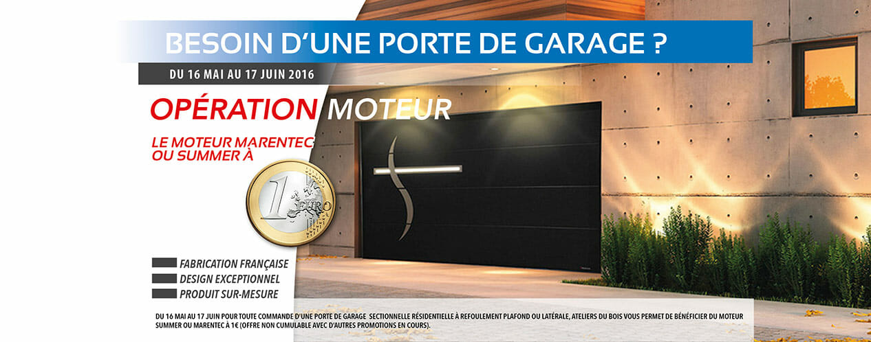 Porte de garage aludoor promotion portes et fen tres pvc for Porte de garage aludoor