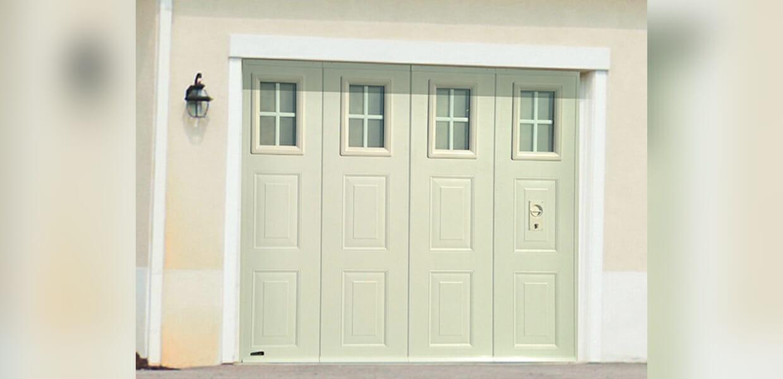 Porte de garage sectionnelle lat rale aludoor portes et for Porte de garage sectio tech