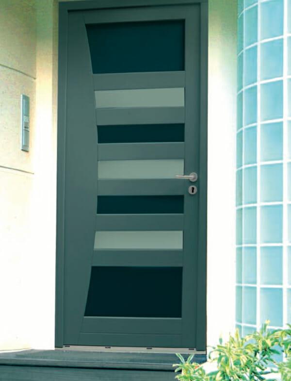 Bien connu Porte Bois contemporaine - Portes et fenêtres PVC, Bois et Alu en  PA61