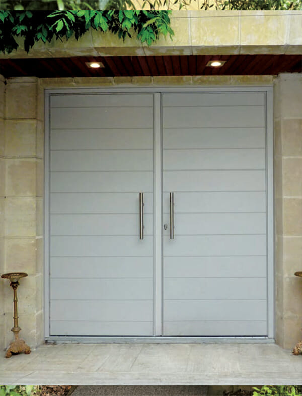 Porteentreeboissurmesure2  Portes et fenêtres PVC  ~ Porte De Service Bois Sur Mesure