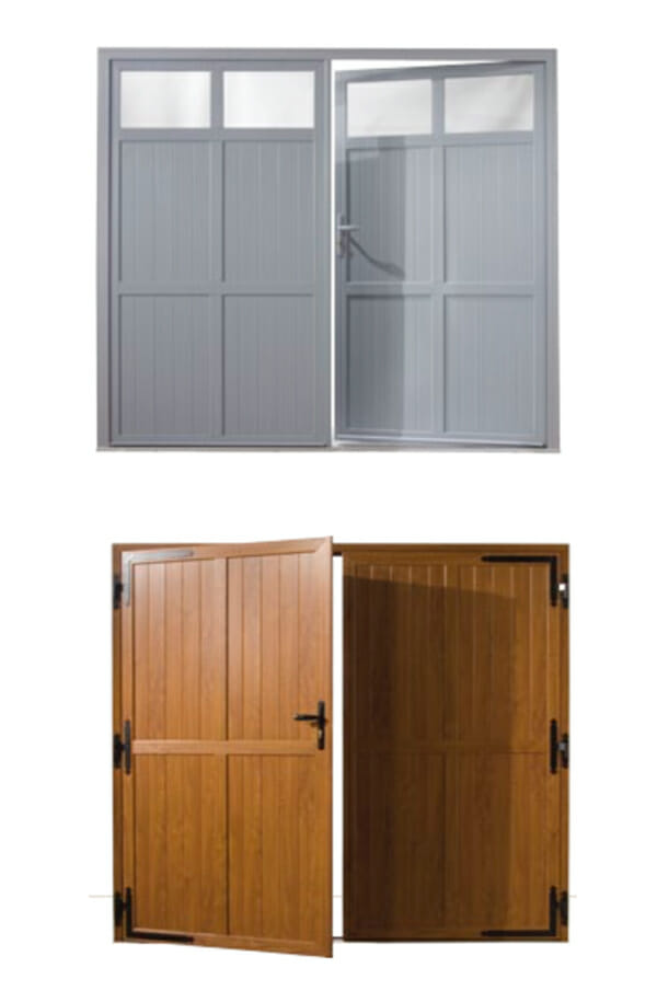 Porte de garage bois sur mesure for Porte de garage sur mesure castorama