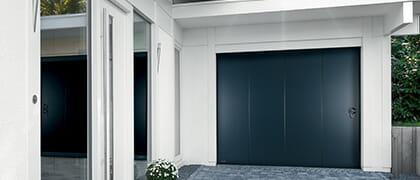porte de garage-porte laterale