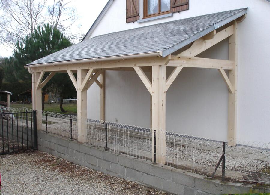 un carport classique avec montage traditionnel en Essonne (91)