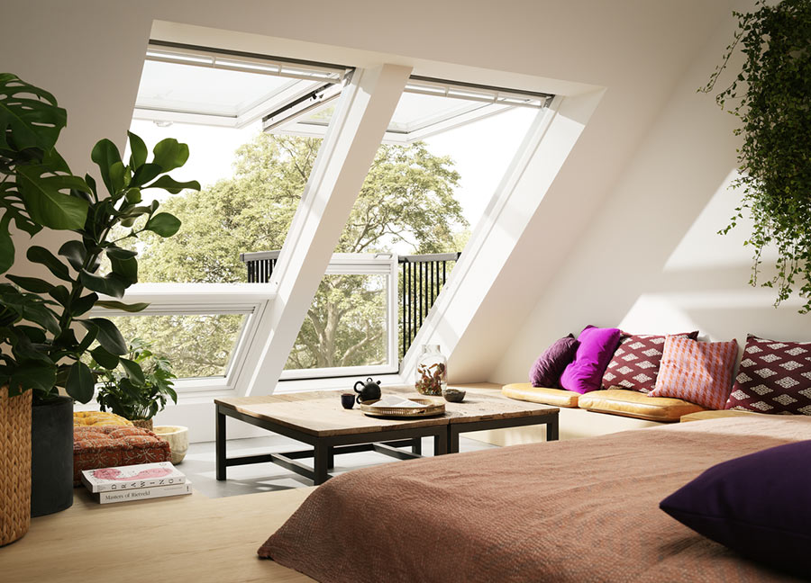 Fenêtre de toit velux cabrio