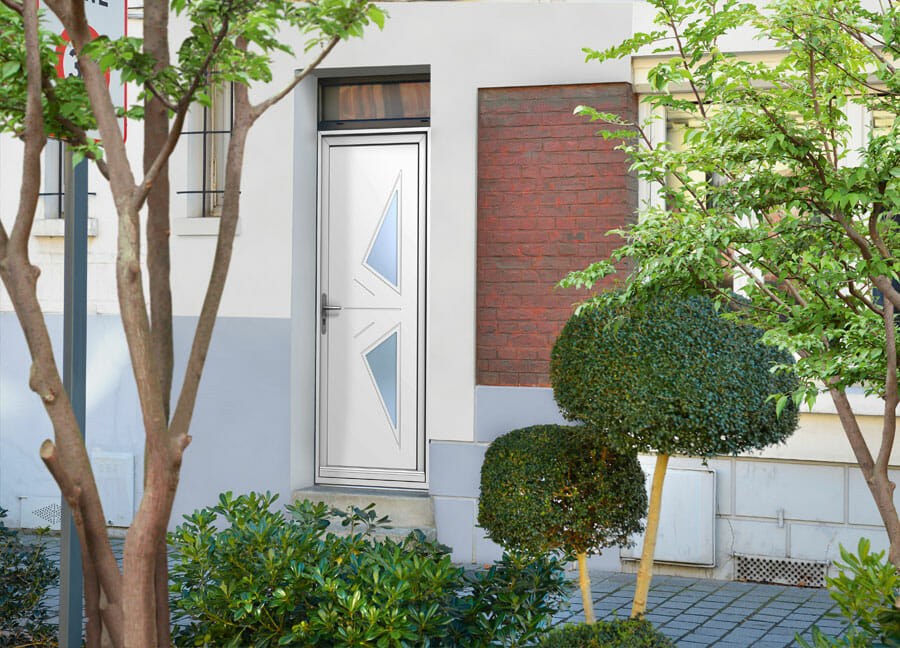Porte PVC OuvertureS ligne géométrique