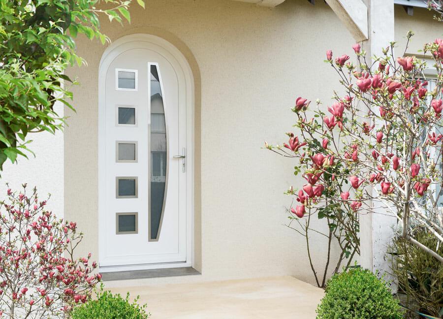 Porte PVC blanche OuvertureS