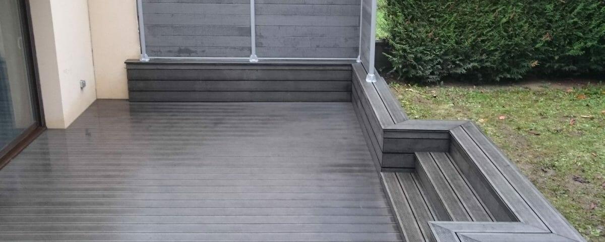 Terrasse en composite à Arpajon