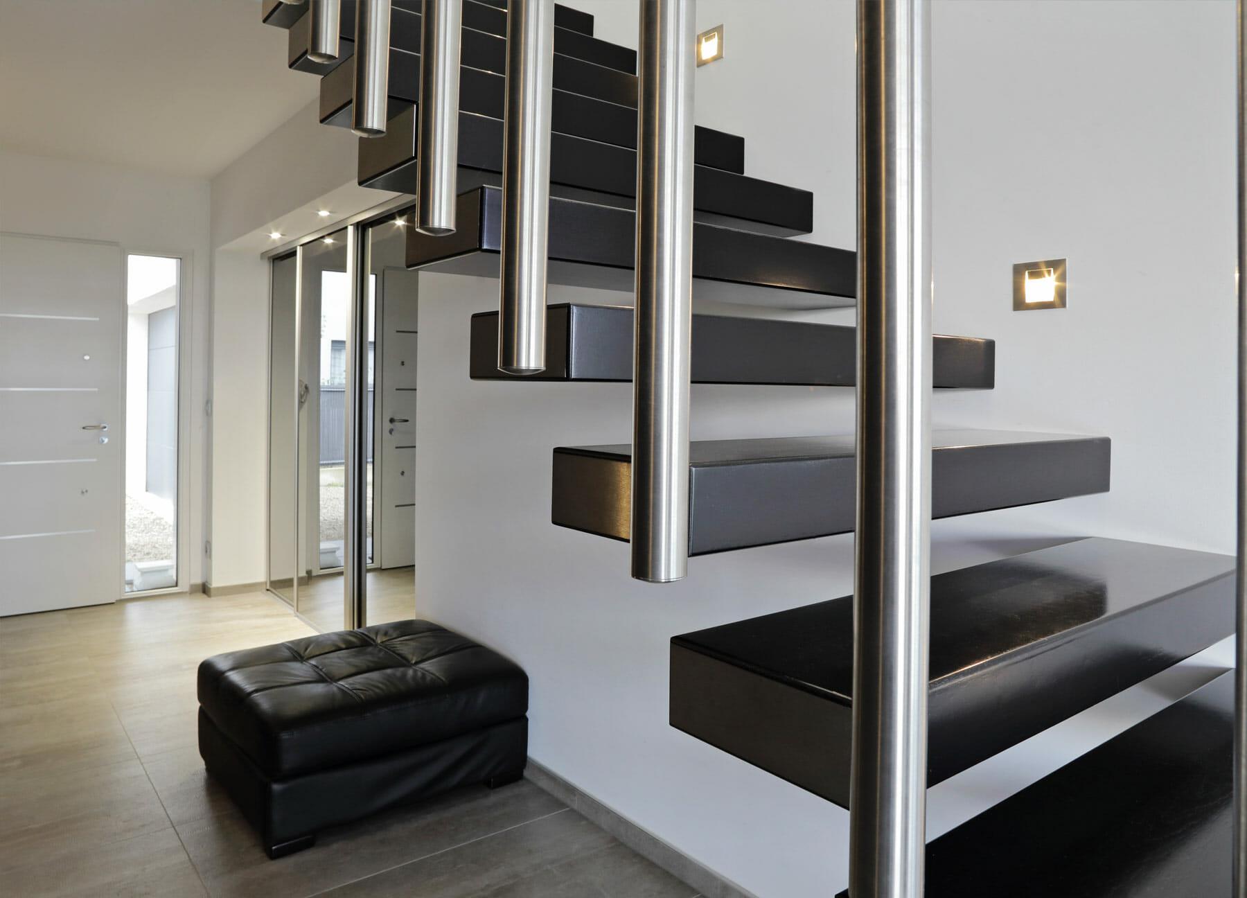 Escalier sur-mesure bois et acier
